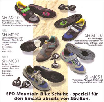SHIMANO SPD System Mountainbike Schuhe und Pedale